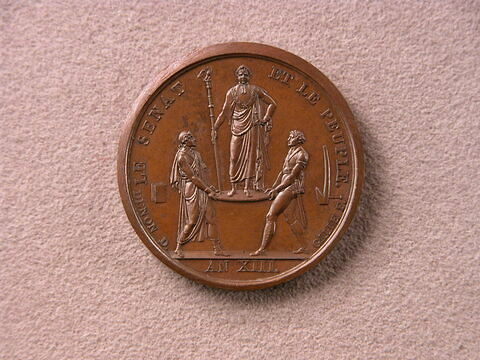 Jeton du couronnement de Napoléon / Le Sénat et le Peuple