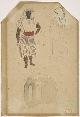 Croquis d'Afrique du Nord avec figures