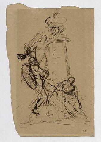 Étude pour le monument élevé en l'honneur de Delacroix dans les jardins du Luxembourg à Paris