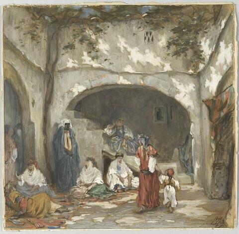 Cour intérieure au Maghreb