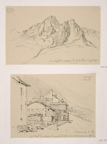 """Album du """"Voyage en Suisse"""". 1864, d'après Constant DUTILLEUX- Les Aiguilles-Rouges"""