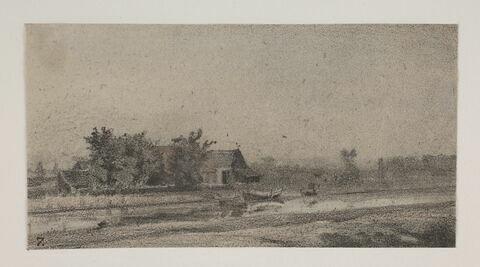 """Album du """"Voyage en Hollande"""". 1854, d'après Constant DUTILLEUX--Près de la station à Amsterdam"""