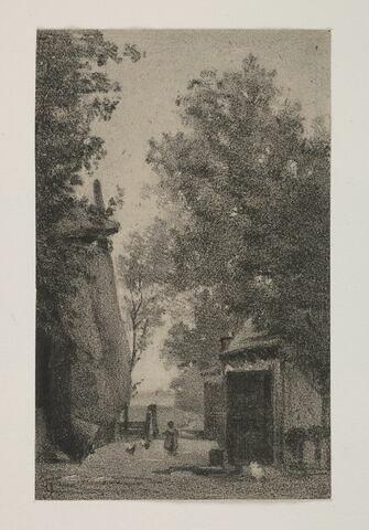 """Album du """"Voyage en Hollande"""". 1854, d'après Constant DUTILLEUX- Une ferme sur les bords de l'Amstel"""