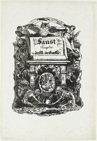 Frontispice pour l'édition du Faust de Goethe illustré par Delacroix