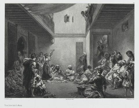 Noce juive dans le Maroc, d'après Delacroix