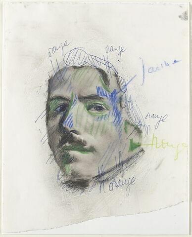 Portrait de Delacroix, d'après l'Autoportrait au gilet vert
