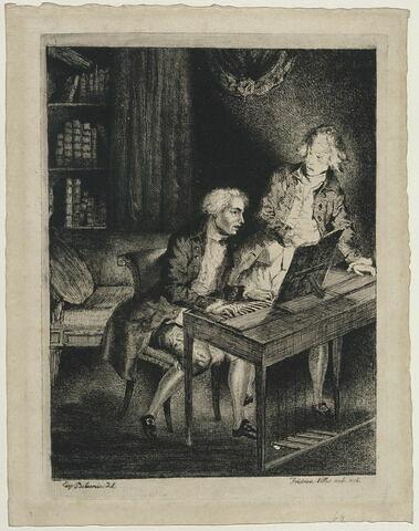 Glück, d'après Delacroix (2e état)