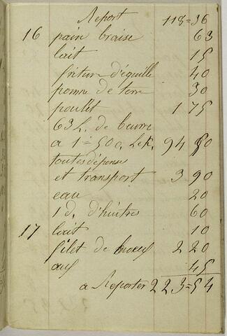 Carnet de compte à couverture rouge commencé le 18 septembre 1857