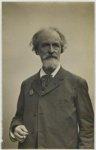 Portrait d'Alfred Robaut de face à mi-corps