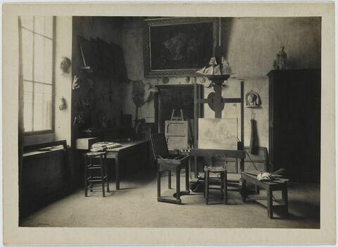 L'atelier de J.-Fr. Millet à Barbizon (vu de l'intérieur), reconstitution