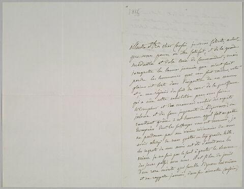 Lettre autographe signée Pierre-Antoine Berryer destinée à Eugène Delacroix, Angerville la Rivière par Malesherbes 17 novembre 1855