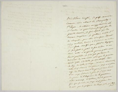 Lettre autographe signée Pierre-Antoine Berryer destinée à Eugène Delacroix, 17 août 1861