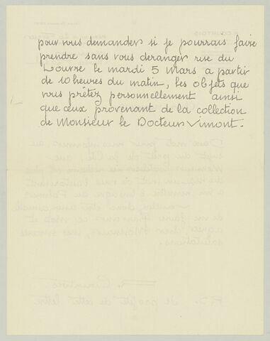LAS R. Courtois à Charles Fegdal, 26 février [1935]
