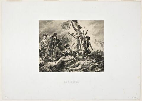 La Liberté guidant le peuple d'après Eugène Delacroix