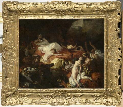 La Mort de Sardanapale, d'après Eugène Delacroix