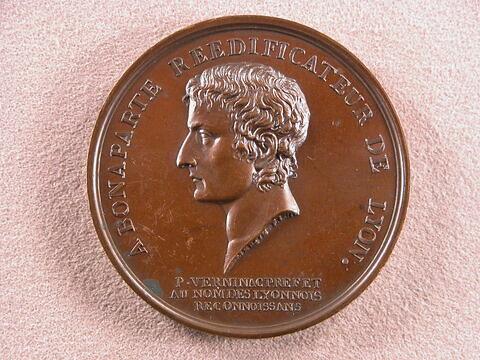 Bonaparte réédificateur de Lyon / Pose de la première pierre de la place Bellecour, 10 messidor an VIII (29 juin 1800)