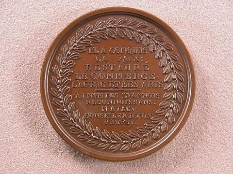 Hommage des Lyonnais à Bonaparte pour l'obtention de la paix générale, 18 brumaire an X (9 novembre 1801)
