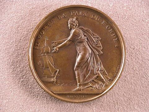 Débarquement du roi Louis XVIII en France – Louis XVIII portant la paix du monde, 1814
