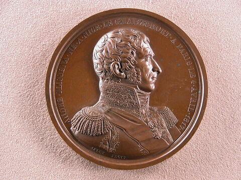 Hommage rendu à André Masséna, prince d'Essling et maréchal d'Empire, mort le 4 avril 1817