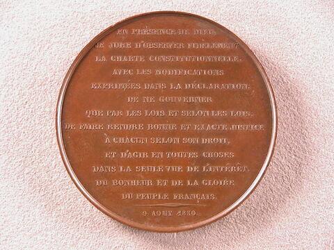 Serment de Louis-Philippe acceptant la Charte de 1830, 9 août 1830