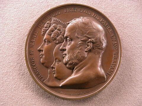 Visite de leurs majestés siciliennes François Ier comte de Trapani, Marie-Isabelle et François de Paule, 31 mai 1830