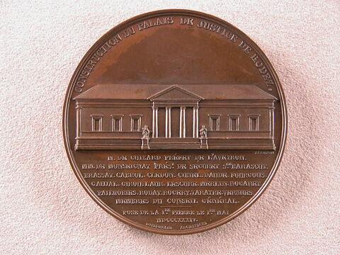 Construction du Palais de Justice de Rodez, 1834