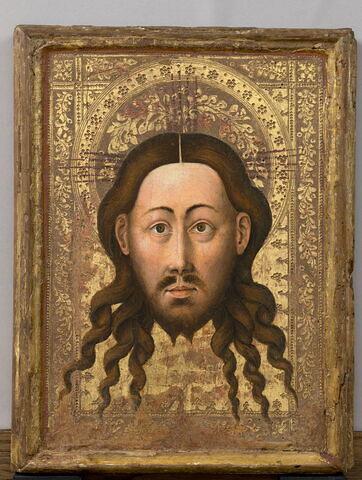 Vierge en buste (dite véronique de la Vierge) et Sainte Face