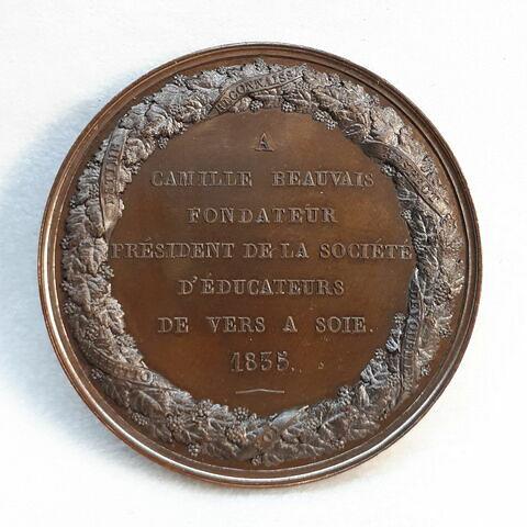Hommage à Camille Beauvais, président de la Société d'éducateurs de vers à soie, 1835