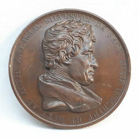 Hommage à Antoine-Isaac, baron Silvestre de Sacy, 1838