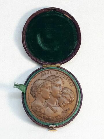 Prix de l'Académie baléare des beaux-arts, 1864, médaille dans un écrin rond