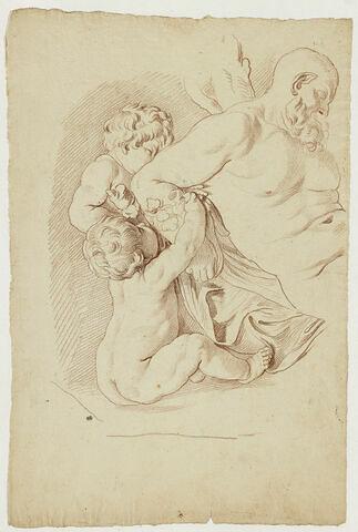 Silène et deux enfants