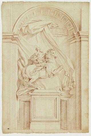 Statue équestre de Constantin, à Rome