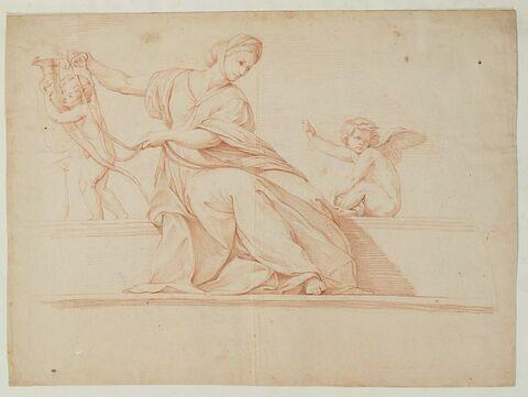 La Tempérance et deux enfants nus