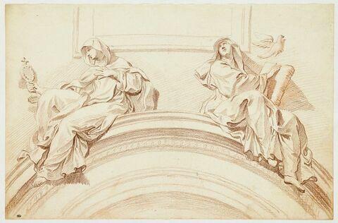Sainte Claire et sainte Scholastique
