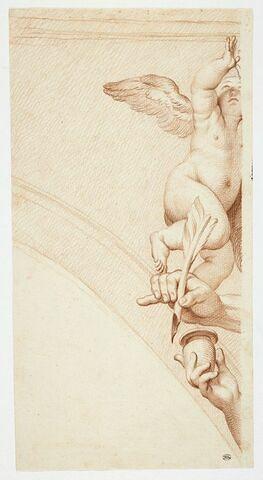 Un ange, la main de saint Jean et la main d'un ange