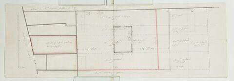 Plan de la parcelle de la fonderie du Roule