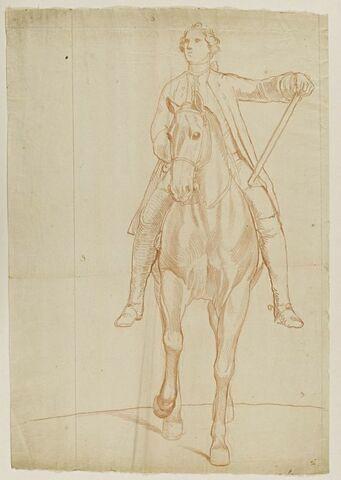 Cavalier et cheval, vus de face