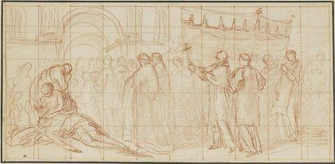 La procession de saint Charles Borromée pour la guérison de la peste