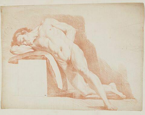 Académie d'homme nu, à demi allongé