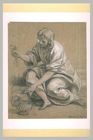 Jeune homme tenant un encensoir
