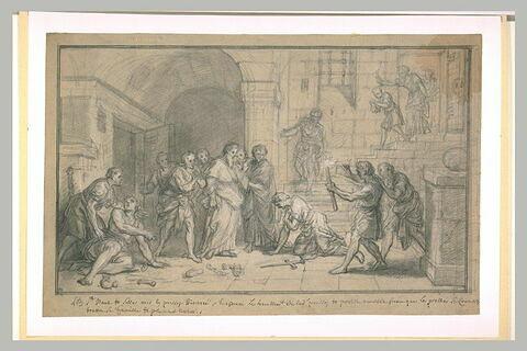 Saint Paul et Silas prisonniers convertissant leur geôlier