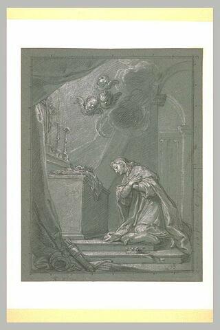 Saint Louis déposant la couronne d'épines dans la Sainte Chapelle