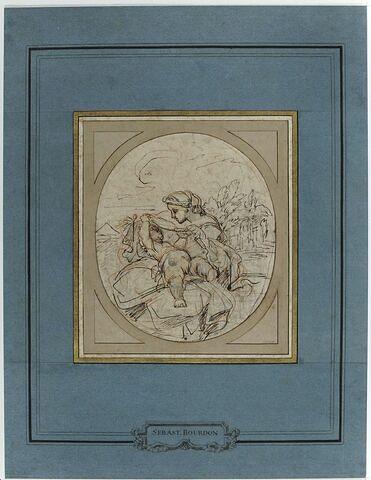 La Vierge couvrant l'Enfant Jésus d'un voile