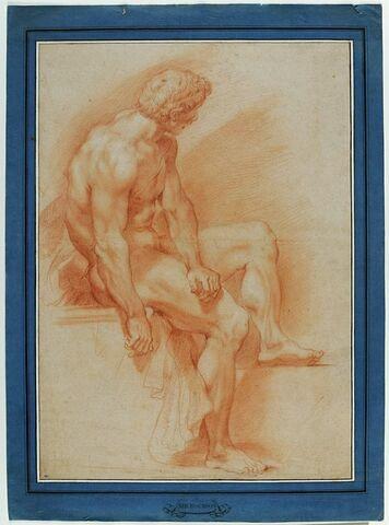 Académie d'homme nu, assis, tourné vers la droite