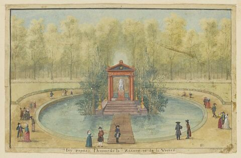 Tombeau de Jean Jacques Rousseau aux Tuileries