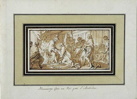 Hommage fait au roi par l'archiduc