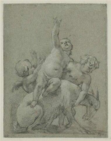Trois enfants jouant avec un bouc, étude pour une bacchanale