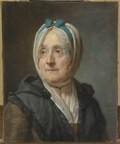 Portrait de Françoise Marguerite Pouget, deuxième femme de l'artiste ( 1707-1791)