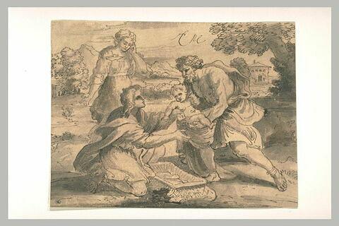 Jupiter enfant confié aux nymphes de Crète