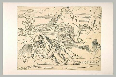 La Déploration du Christ mort dans un paysage